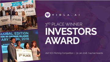 Viola.AI wins Investor Award at d10e ICO Pitching Competition at Cayman Islands.