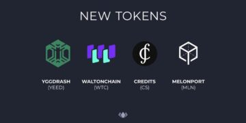 Waltonchain (WTC), Melonport (MLN), Credits (CS) and YGGDRASH (YEED) get listed on Bitfinex and Ethfinex