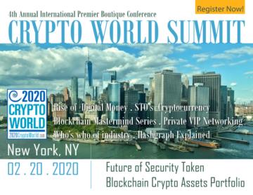 4th Annual International Crypto World Summit: Future of Security Token