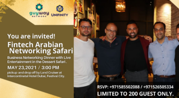 Fintech Arabian Desert Safari — Networking Dinner, MAY 23, 2021