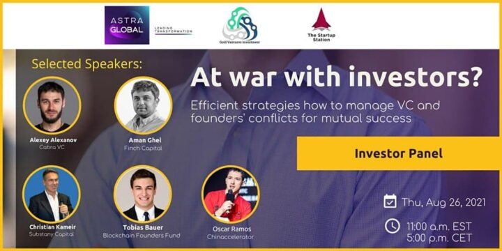 At war with investors? What does a founder need to know about VCs' business objectives and risk appetite?